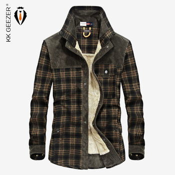Flanellhemd Herren Winter Plaid Military Fleecehemd 2019 Dicke Warme Markendesigner Langarm 100% Baumwolle Regular Fit Qualität Lose Herrenhemden Rot Lässige Kleidung Hemd Kleid Hemd Dropshipping