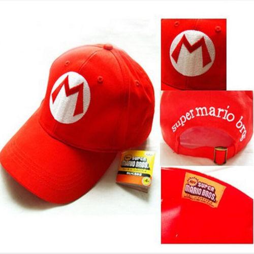 Super Mario Cotton Caps hat Red Mario and luigi cap Hip Hop Anime Cosplay Halloween Costume Buckle Hats Women Men Baseball Cap