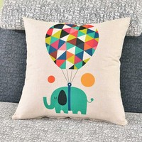 Cartoon Pattern Printed Pillow Cover Decorative Home Bedding Cushion Cover Pillow Case Sofa Seat Pillowcase Soft
