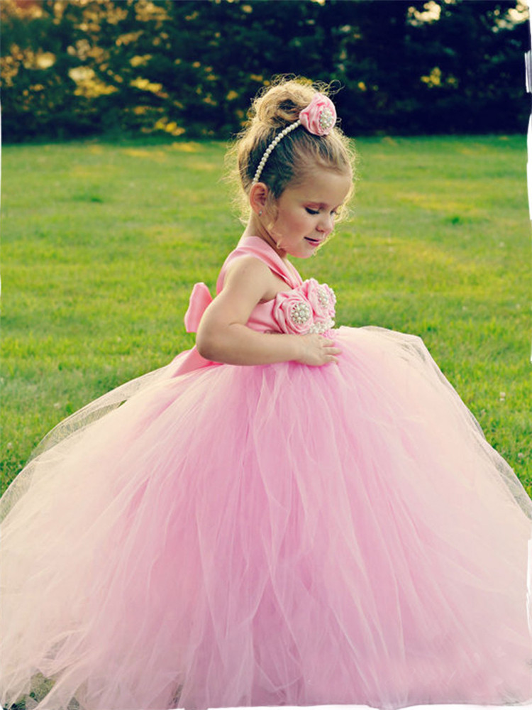 2017 tulle tutu flower girls dresses princess toddler baby kids clothes teenager girl dress 2 4 5 7 9 11 years birthday clothing elegant flower girl dress for weddings long tulle kids girls 2 3 4 5 6 7 8 9 years infant outfits princess party tutu dresses
