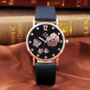 Luxury Watch Women Dress Bracelet Watch Fashion 2019 Fashion Color Strap Digital Dial Leather Band Quartz Analog Wrist Watches