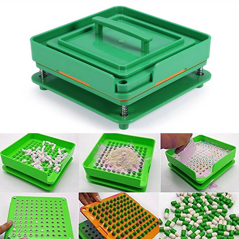 100 Holes Capsule Filler Board Food Grade ABS Filling Tools Capsule Manual Encapsulator