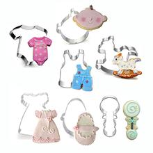 Купить с кэшбэком Waasoscon Stainless Steel Baby Toys Series Cookie Cutter Shapes High Quality Fondant Cutters Biscuit Decoration Gateau Cake Mold