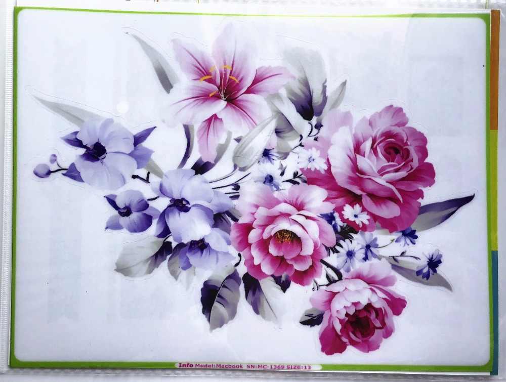 Đẹp tím bouquet Vinyl Decal Máy Tính Xách Tay nhãn dán trên Máy Tính Xách Tay Sticker cho DIY Macbook Pro Air 11 13 15 inch Máy Tính Xách Tay da