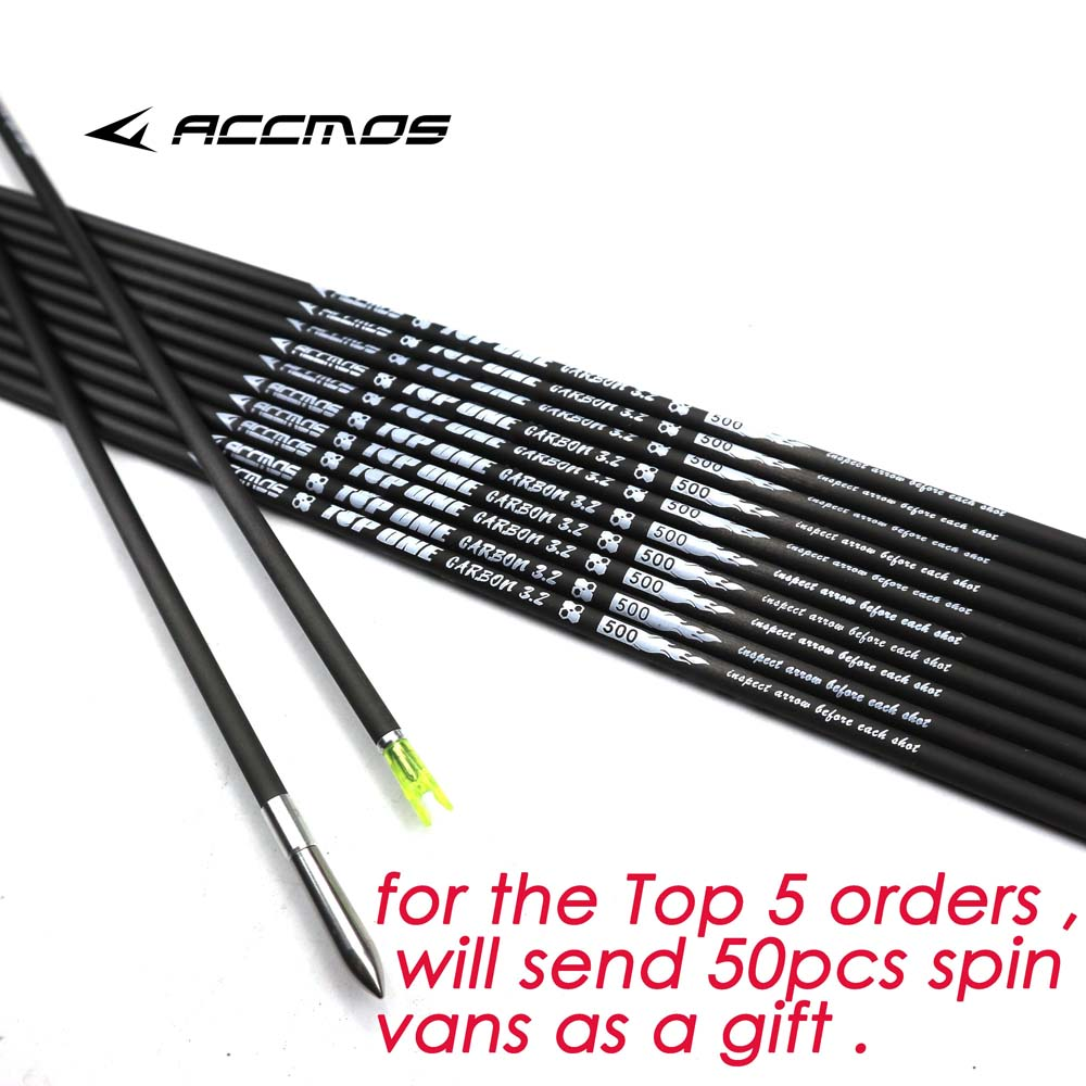 2019 Newest ID 3 2mm 40T Carbon Arrow Shaft Spine 350 400 450 500 550 600