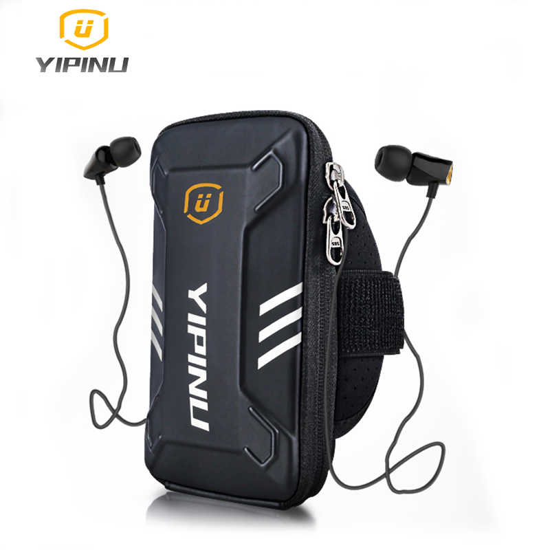 Yipinu Waterproof Small Fitness Running Bag Wallet Jogging Phone Holder Purse Armband Gym Arm Bag Sports Accessories 4 6 Inch