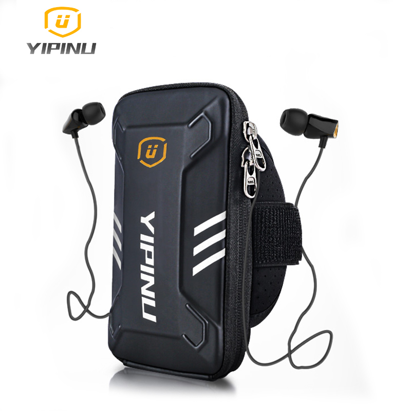 Yipinu Waterproof Small Fitness Running Bag Wallet Jogging Phone Holder Purse Armband Gym Arm Bag Sports Accessories 4-6 Inch titanium ring