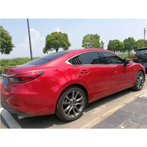 Image 4 - For Mazda 6 ATENZA 2014 2015 2016 2017 2018 Carbon Fiber ABS Rear Window Hanlde triangle Bowl Cover Car Styling Accessories 2pcs