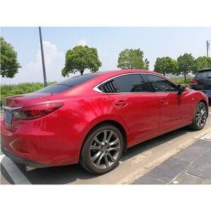 Image 4 - Para Mazda 6 ATENZA 2014, 2015, 2016, 2017, 2018 de fibra de carbono ABS ventana trasera Hanlde triángulo cubierta de cuenco accesorios de estilo de coche 2 uds
