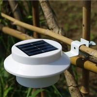 5 יח'\סט עמיד למים LED שמש מופעל גדר Gutter שמש אור חיצוני אבטחת מנורות גן חצר עץ שמש תאורת קיר מנורות