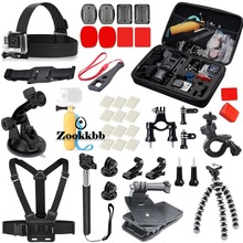 Zookkbb For Gopro Hero 5 4 3 Accessories Head Chest strap Bike Handlebar Floating Handle Grip Monopod pole Small Octopus