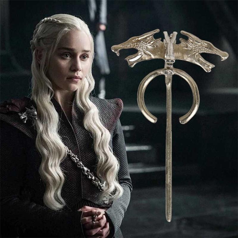 Game of Thrones Daenerys de Dragon Badge Broche Film Bijoux Cosplay Accessoires Cosplay Costume