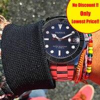 Parnis автоматические часы Diver Tritium Miyota 8215 механические мужские часы сапфир mekanik erkek kol saati reloj automatico мужские