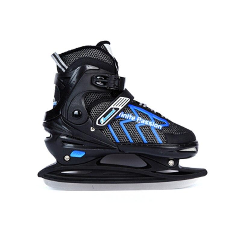 Adulte enfant réglable patin à glace astuces chaussures patins à lame de glace patin de vitesse ou couteau à balle couteau de Hockey sur glace véritable patinage sur glace ID11