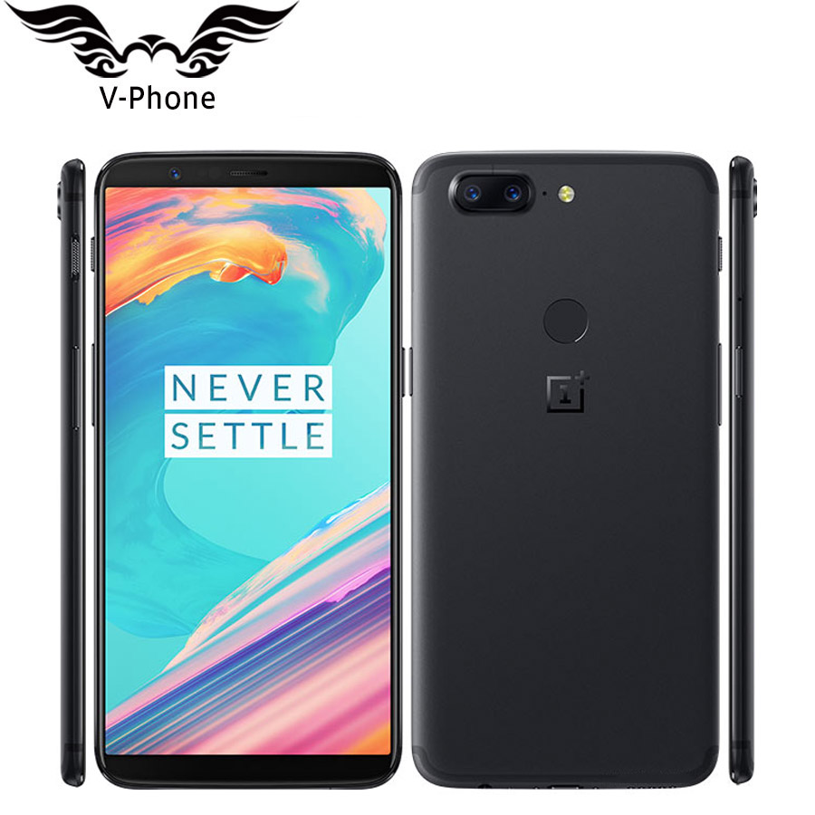 Brand New OnePlus Smartphone OnePlus 5T 8GB RAM 128GB ROM Snapdragon 835 Octa Core Fingerprint 4G 20MP+16MP Camera Mobile Phone-in Cellphones from Cellphones & Telecommunications    1