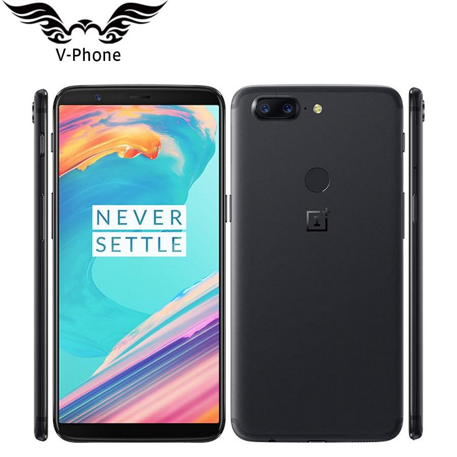 International Firmware OnePlus Smartphone OnePlus 5 T 8 GO de RAM 128 GB ROM Snapdragon 835 Octa base D'empreintes Digitales 4G LTE téléphone portable