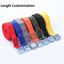 Corde de Tension de voiture attache sangle forte ceinture à cliquet sac à bagages boucle en métal attache ceinture sangles de cargaison longueur personnalisation