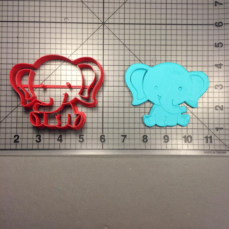 Cute Animal Zebra Cookie Cutter Fondant Mould Made 3D Printed Bayby Dragon Elephant Cookie Cutter Set Cake Decorating Tool