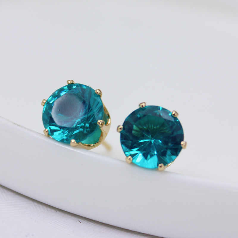 2019 New brand jewelry luxury crystal earrings for women gold for women stud earrings for girls gift