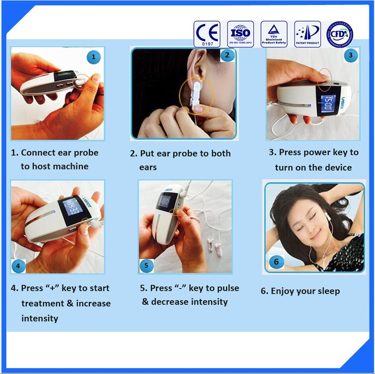 Cranial electrotherapy stimulation on ear anti insomnia natural sleep remedies sleep device portable design anti insomnia and relief mental stress sleep well health treatment device