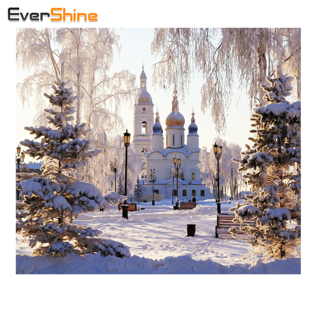Diamond Embroidery Snow Scenery Diamond Painting