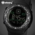 Infantry lujo marca hombres deportes relojes led digital reloj militar correa de caucho cuerpo de marines de pulsera relogio masculino