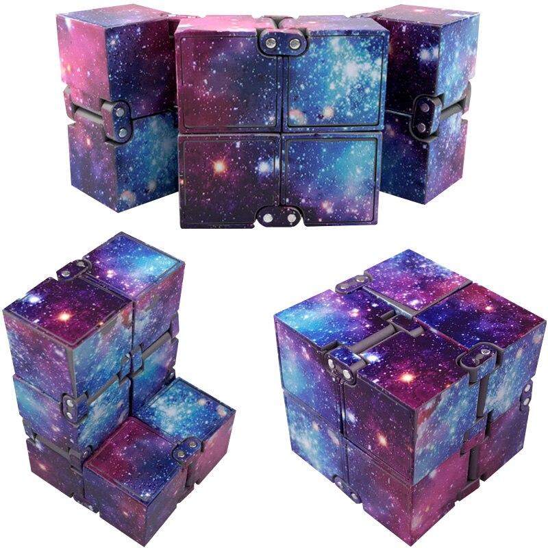 Новая тенденция Творческий бесконечное Cube Бесконечность Cube Magic Непоседа куб офис флип кубическая головоломка против стресса аутизма игруш... ...