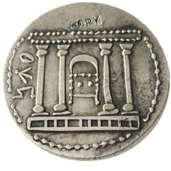 Type:# G(20)JEWISH BAR KOCHBA Kokhba REVOLT Silver Shekel of Jerusalem Ancient Silver Plated copy coins