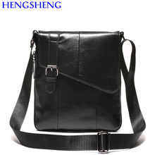 Hengsheng Promotion genuine leather men messenger bags with cow leather gentleman shoulder bags for fashion men leather bags