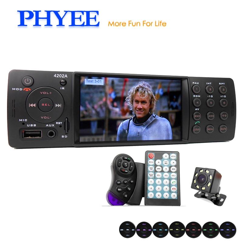 4 Auto font b Radio b font font b Car b font Stereo 1 Din Bluetooth