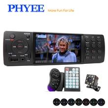 4 «автомобильное радио для машины стерео 1 Din автомобильный радиоприемник с Bluetooth MP5 HD видео плеер MP3 USB TF Aux пультов в тире автомагнитол PHYEE VX-4202ABT