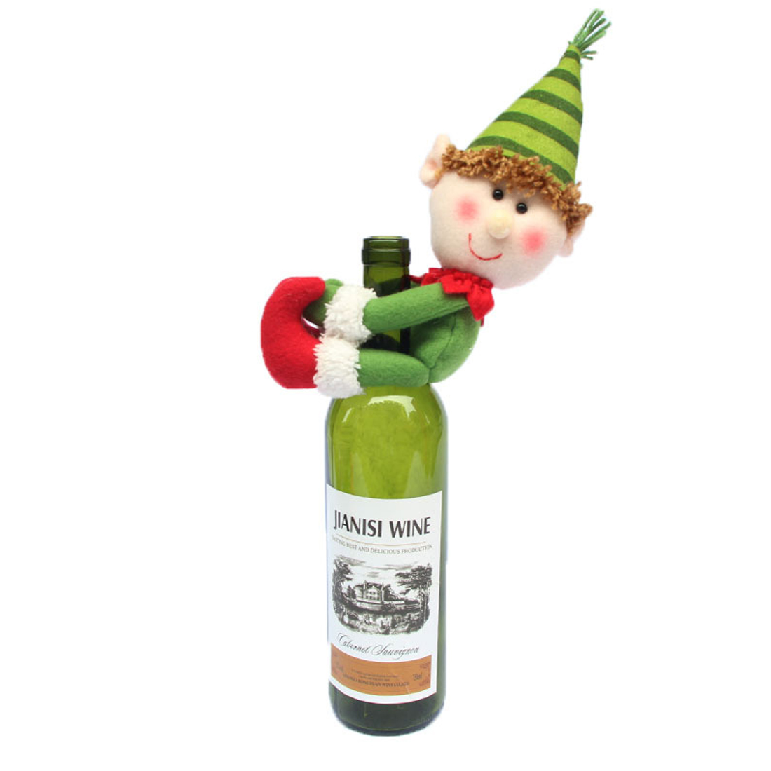 Home Santa Claus Wine Bottle Cover Christmas Decorations For Home Snowman Bottle Pendant Sets Xmas Dinner Table Decor