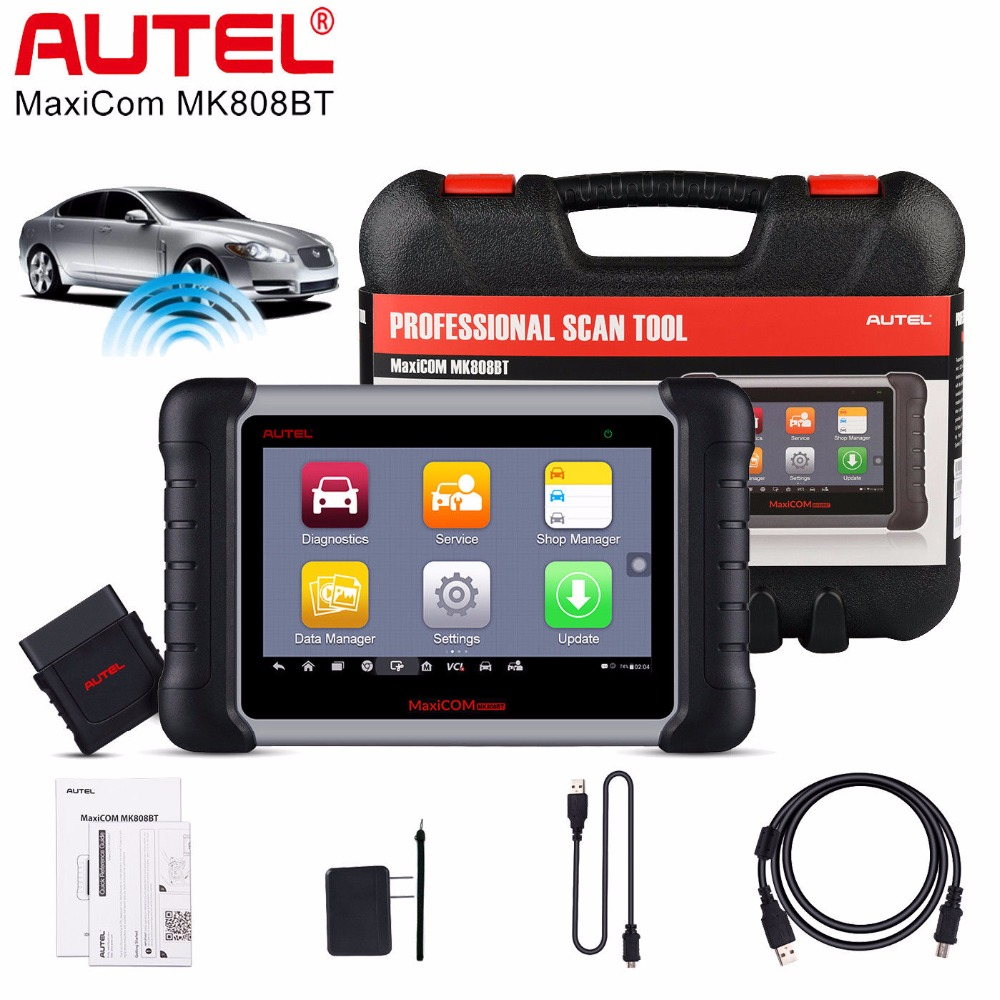все цены на Autel MaxiCom MK808BT Auto Diagnostic Tool Code Reader ABS DPF EPB SAS SRS TPMS BMS Oil Service Reset All System MK808 MX808 онлайн