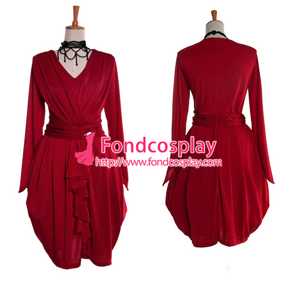 Gothic Lolita Red Gown Dress Cosplay Costume Tailor made[G987]