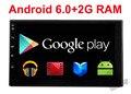 2 Г RAM Quad core 2 дин android 6.0 2din Новый универсальный Автомобиль радио Двойной Dvd-плеер Автомобиля Gps-навигация В тире ПК Автомобиля Стерео видео