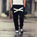 Free shipping Trend personality male print Elastic Waist trousers plus size casual health loose push-up hiphop harem pants