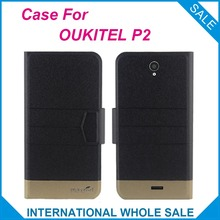 Hot! 2016 OUKITEL P2 Case New Arrival 5 Colors Factory Price Flip Leather Exclusive Case For OUKITEL P2 Cover