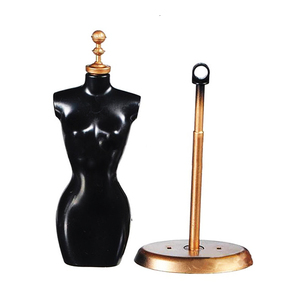 1pc New Fashion Clothes Gown Display Mannequin Model Stand for Doll Holder Dress Form Practical Display Holder Christmas