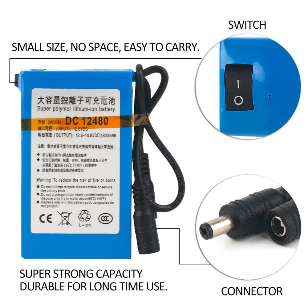 Baterias Recarregáveis dc12v 4800 mah super grande Tipo : Li-ion