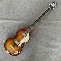 John entwistle estilo pôr-do-sol amarelo tigre padrão bb2 baixo guitarra  oco baixo  violino baixo.