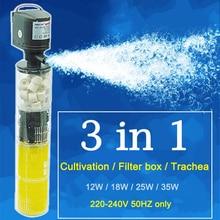 3 в 1 фильтр для аквариума воздушный насос воздушный кислородный увеличивающий внутренний фильтр аквариума насос для аквариума FA0013
