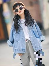 Denim Jacket For Girls Spring Jeans Coat Teenager Baby Girl Clothes Kids Teens Outwear Children Clothing Kinderkleding Meisjes 9(China)
