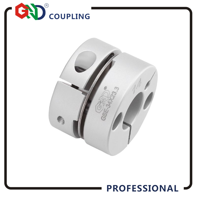 Coupling GND aluminum alloy CNC 5mm 8mm 12mm single diaphragm clamp for hollow encoder shaft coupling stepper motor connect new frame model aluminum alloys single diaphragm coupling fit servo and stepper motor shaft coupler d 68 l 54 d1&d2 at 15 25mm