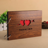 1pcs Lot 30 Pages 8 Inch Personalized Wedding Photo Album YT75 Wooden Gifts Loose Leaf Custom