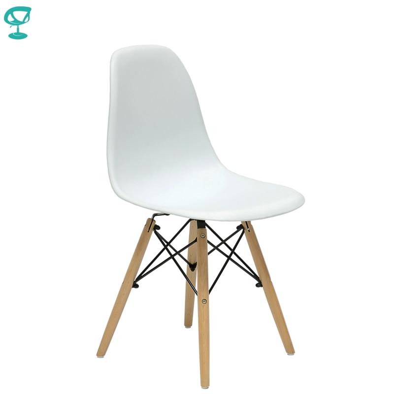 94894 Barneo N-12 plastikowe drewno kuchnia śniadanie wnętrze stołek krzesło barowe meble kuchenne biały