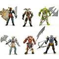 Новый очень здорово игрушки фигурки, 6 шт. орки с оружием, Древние военные Solider модели комплект, Сам собирай HALF-ORC модель кукольный