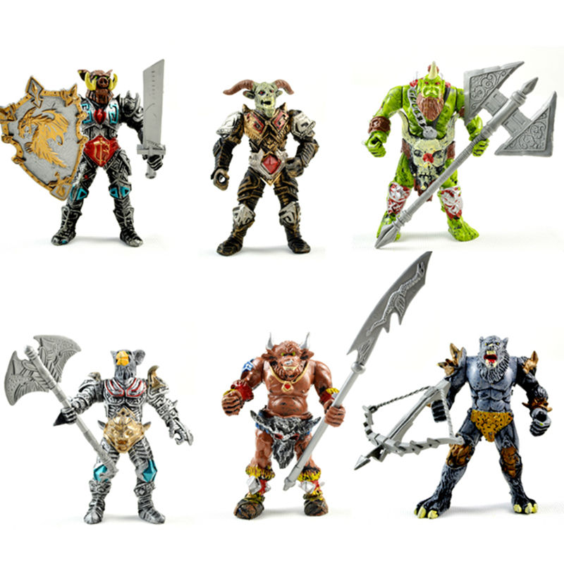 New Very Cool Action Toy Figures, 6 pcs Orcs with Weapon, Ancient Military Solider Model Set, DIY Assembly HALF-ORC Model Puppet new very cool action toy figures 6 pcs orcs with weapon ancient military solider model set diy assembly half orc model puppet