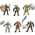 New muito legal Toy figuras de ação, 6 pcs Orcs com arma, Antigo militar Solider modelo set, Montagem DIY HALF-ORC fantoche modelo