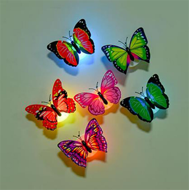 A Ton Of Rooms With Colorful Toys: Butterfly Light Up Baby Toys Colorful Beautiful LED Light