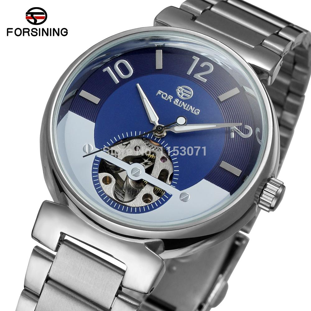 FSG8070M4S1 Forsining brand Automatic self-wind dress fashion skeleton watch for men with analog display gift box free shipping forsining date display automatic mechanical watch men business leather band watches modern gift dress classic analog clock box